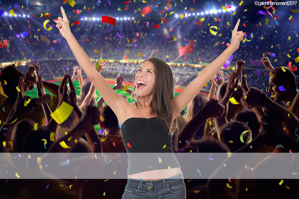 Football Crowd Confetti